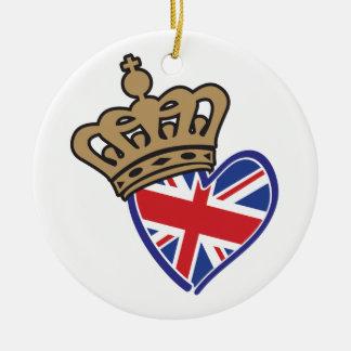 Royal Crowm UK Heart Flag Ceramic Ornament