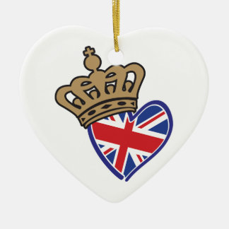 Royal Crowm UK Heart Flag Ceramic Ornament
