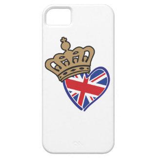 Royal Crowm UK Heart Flag iPhone SE/5/5s Case