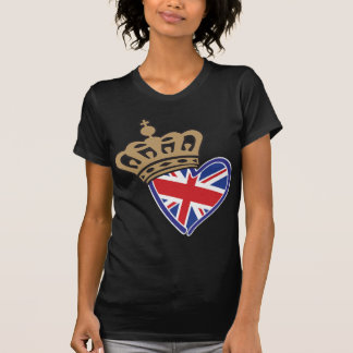 Royal Crowm UK Heart Flag T-Shirt