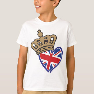 Royal Crowm UK Heart Flag T-Shirt