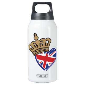 Royal Crowm UK Heart Flag Thermos Bottle