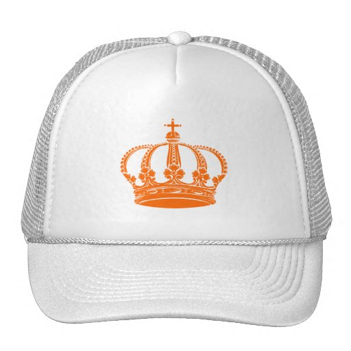Royal Crown 02 - Orange Trucker Hat