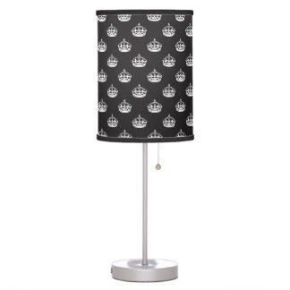 Royal Crown Black and White Table Lamp
