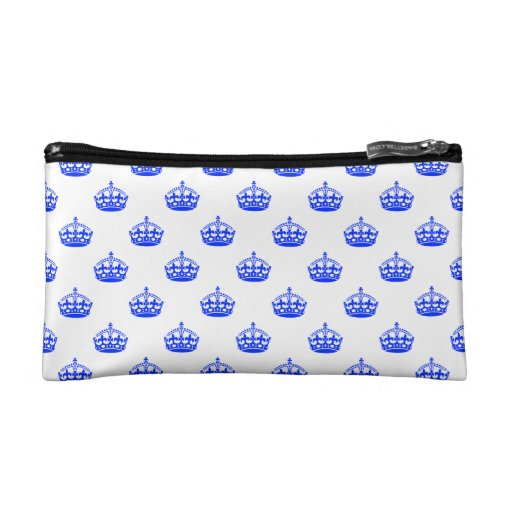 Royal Crown Blue Cosmetic Bags