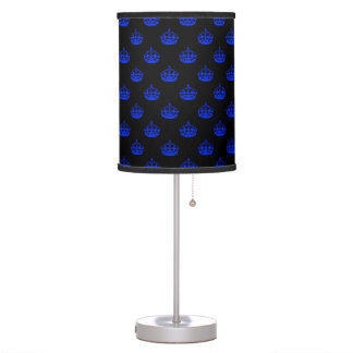 Royal Crown Blue Desk Lamp