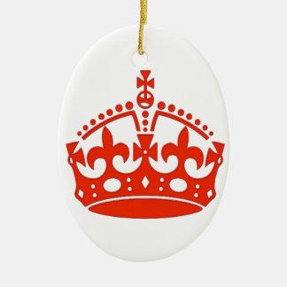 Royal Crown Ceramic Ornament