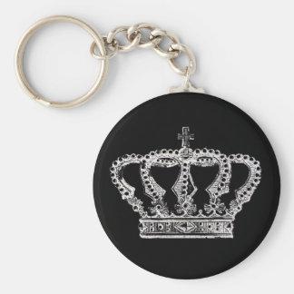 Royal Crown [Dark] Basic Round Button Keychain