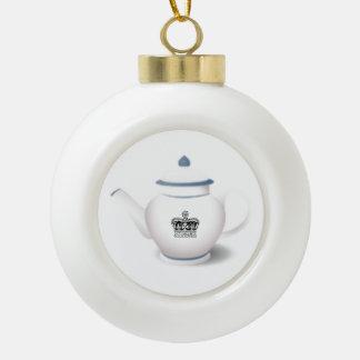 Royal Crown English Teapot Christmas Ornament