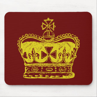Royal Crown Graphic Mouse Pad