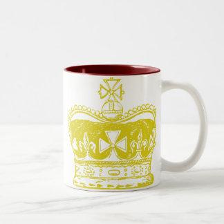 Royal Crown Graphic Two-Tone Coffee Mug