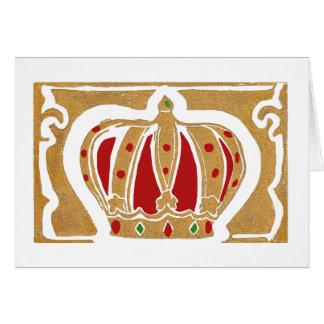 Royal Crown Greeting Card