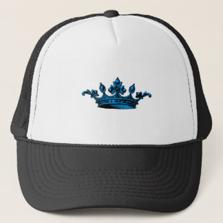 Royal Crown in light blue Prince, Princess, King, Trucker Hat