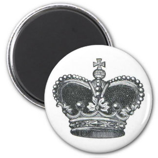 Royal Crown 2 Inch Round Magnet