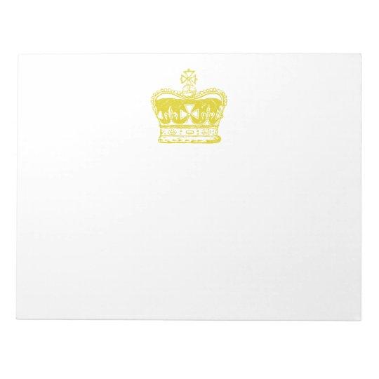 Royal Crown Notepad