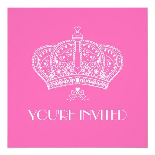 Royal Crown Party Invitation