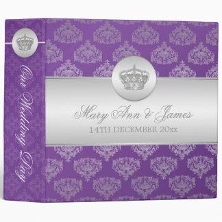 Royal Crown Purple Elegant  Wedding Binder