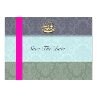 Royal Crown Save The Date Card
