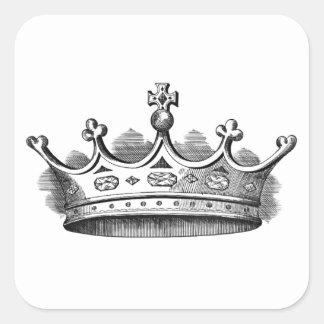 Royal Crown Square Sticker