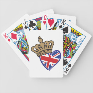 Royal Crown UK Heart Flag Bicycle Playing Cards