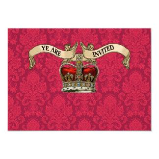 "Royal Crown Wedding Invitations 5"" X 7"" Invitation Card"