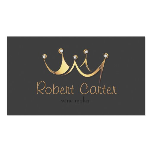 Royal Crown Wine Maker Taster Winery Sommelier Business Card Template