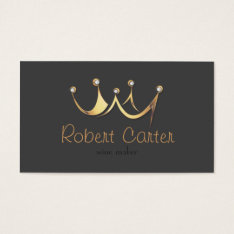 Royal Crown Wine Maker Taster Winery Sommelier Business Card at Zazzle