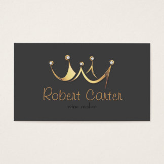 Royal Crown Wine Maker Taster Winery Sommelier Business Card