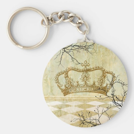Royal Crown with Branches Keychain