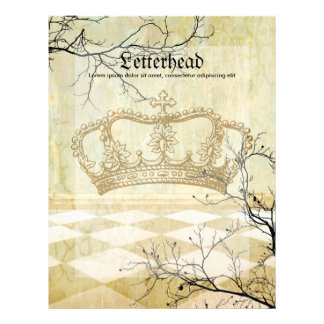 Royal Crown with Branches Letterhead