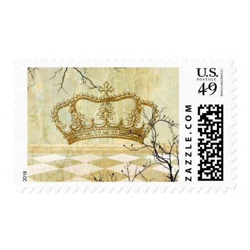 Royal Crown with Branches Postage
