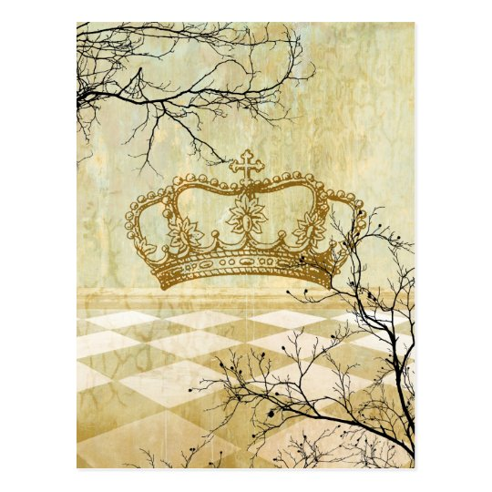 Royal Crown with Branches Postcard