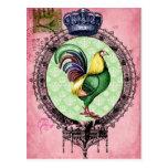 Royal Crowned Rooster Postcard