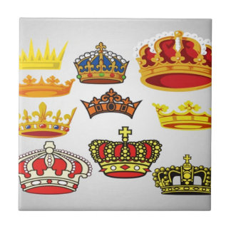 Royal crowns illustration design small square tile