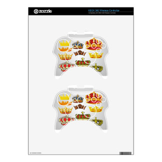 Royal crowns illustration design xbox 360 controller skin