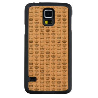 Royal Crowns of Gold Carved® Cherry Galaxy S5 Slim Case