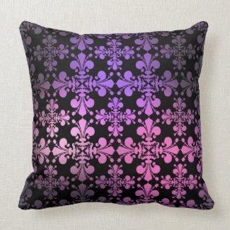 Royal cute punk damask pink and purple pillows
