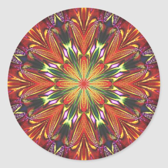 Royal Dahlia Classic Round Sticker