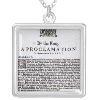 Royal Declaration, 1675 Square Pendant Necklace