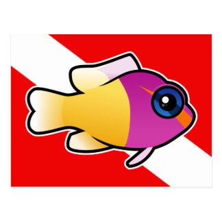 Royal Dottyback Dive Flag Postcards