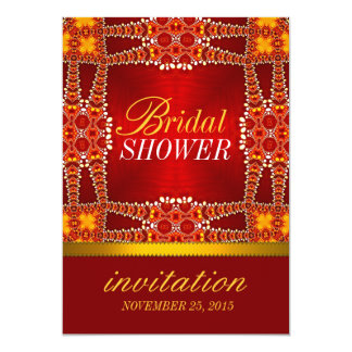 Royal Eastern Bohemian Bridal Shower Party Invites