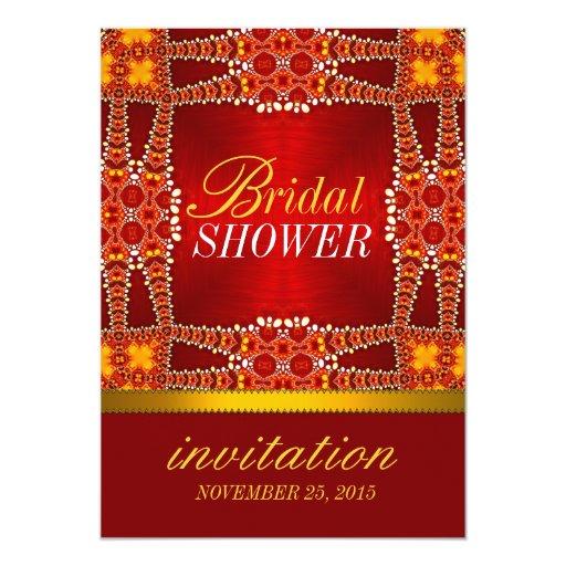 Royal Eastern Bohemian Bridal Shower Party Invites