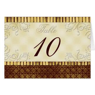 Royal Elegance Table Number Card