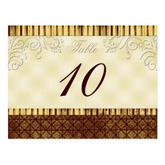 Royal Elegance Table Number Postcard