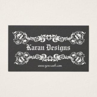 Royal Elegant Fancy Modern Ornate Decorative Business Card