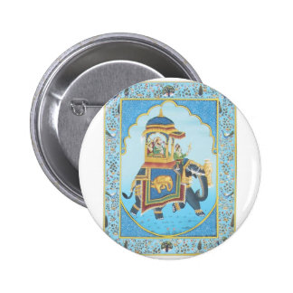 ROYAL ELEPHANT RIDE VINTAGE INDIAN ART BUTTON