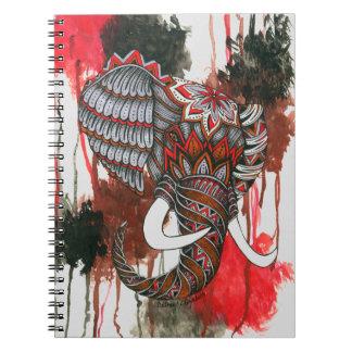 Royal Elephant Spiral Notebook