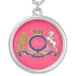Royal Emblem ~ Add Name / Initials Large Necklace