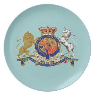 "Royal Emblem ~ Dining Plate 10"" Non-Toxic"