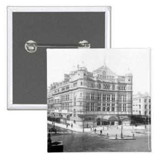 Royal English Opera House, 1891 2 Inch Square Button